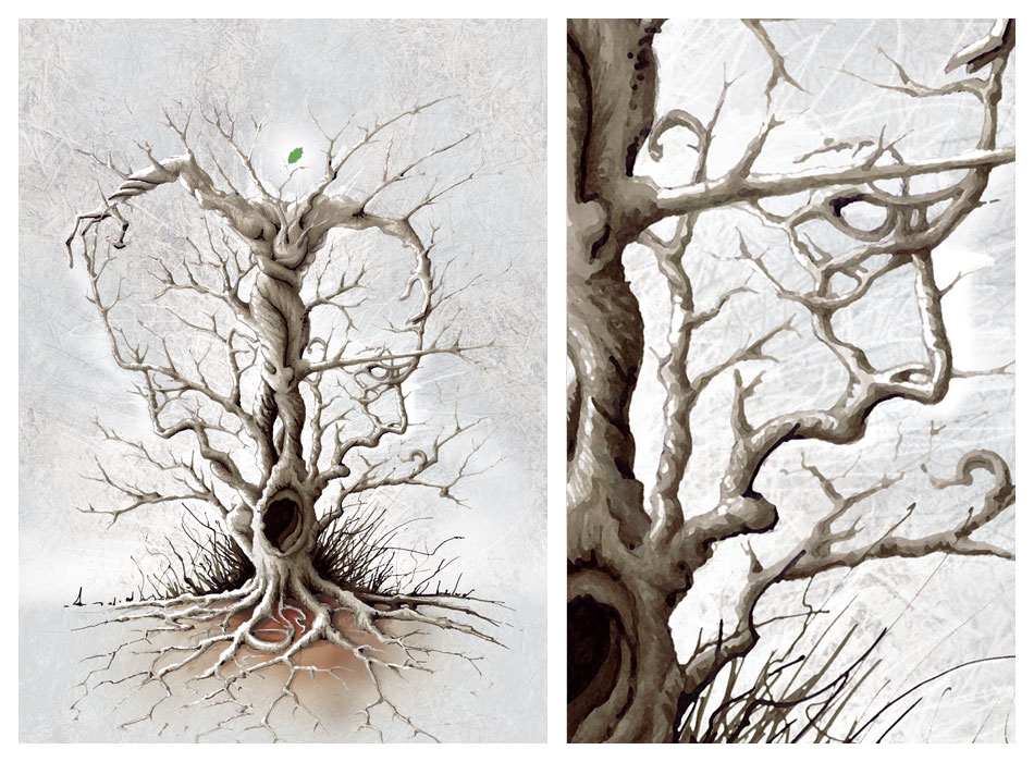 illustration l'Arbre mort
